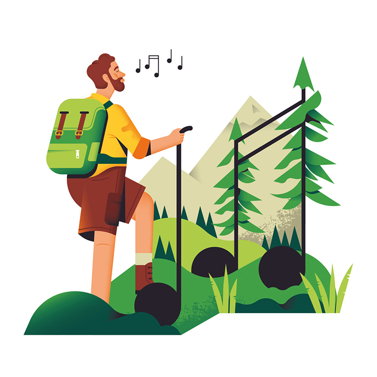 hiker whistlers a song